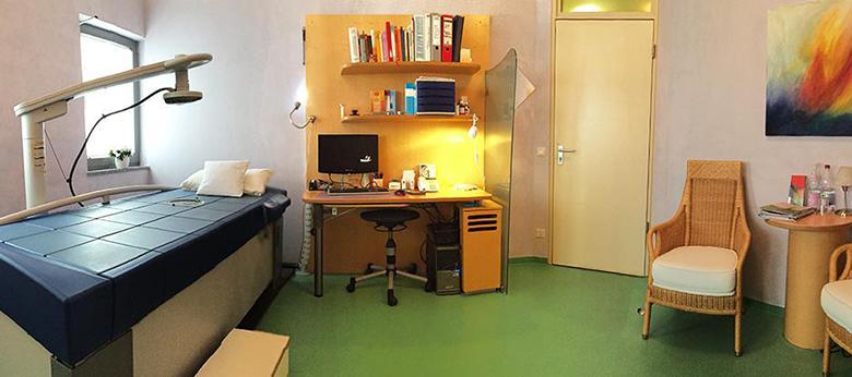 Hyperthermie Behandlungsraum in der Praxis Hyperthermie Stuttgart / Filderstadt