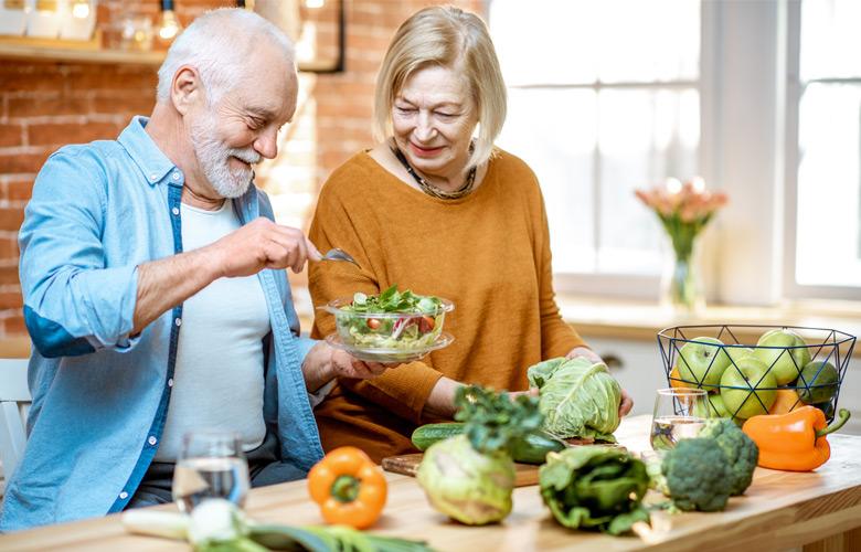 Eine gesunde Ernährung erhöht das Wohlbefinden.